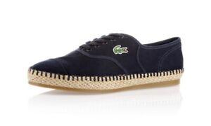 Worn Before Lacoste Rene Espadrille Plimsoll Womens Shoe-SZ 6 US- 100%AUTHENTIC
