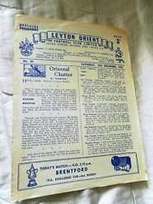 1955/6 FA Cup Leyton Orient V BRENTFORD