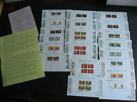CANADA 1970 Xmas 4 center blocks of 4 FDCs (tag,no tag)+16 other combos here too