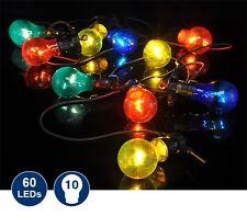 LED Party Lichterkette 10 LED Lampen Garten Lampion Gartenleuchte Innen + Außen