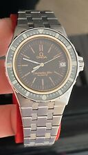Rare Omega Seamaster 120m Jacques Mayol Box & Paper Cal 1337 Stardust Gilt Dial