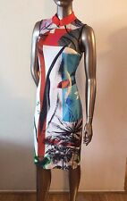 NWOT CLOVER CANYON Abstract Garden bodycon Chinese Collar dress size S - $316