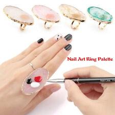 Resin Stone Nail Art Ring Palette Polish UV Gel Mixing Nail Art Equipment ca