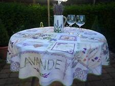 Mantel Provenza 160Cm Redondo Crema Lavendelmotive, Francia, Fácil de Cuidar