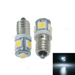 10X 5050 5SMD E10 Screw LED Bulbs For Car Dashboard Indicator Lights 6V 12V 24V