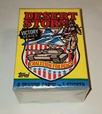 1991 Topps Desert Storm Victory Series Complete 88 Card Set w/ empty wrapper!