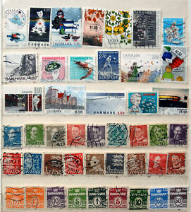 Small Selection Of Good Used Denmark Stamps.