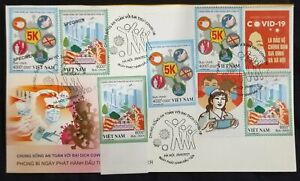 FDC Vietnam w/ perf, imperf, Spe vignettes 2021 : LIVING SAFELY IN THE PANDEMIC