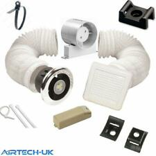 "BATHROOM FAN TIMER MODEL SHOWER LIGHT KIT 100mm 4"" WITH TRANSFORMER"