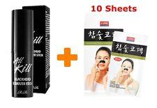 Rire All Kill Black Head Remover Stick (10g) + Luke Nose Strip (10 sheets)