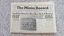 New listing 1958 Mining Record-Riverton Wyoming Uranium Mining-Nevada Copper Mining