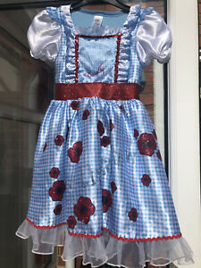 VGC Sainsbury's TU Wizard of Oz Dorothy Dress Up 7-8 Years Excellent Condition