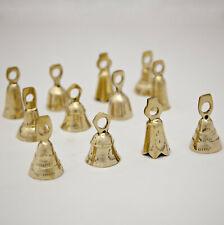 "Two Dozen Brass Bells Assorted 2"" Cow Goat Sheep Bells Relaxing Tinkling Sound"