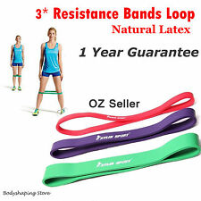 3pcs Heavy Duty Resistance Band Loop Power Gym Fitness  Yoga Workout OZ