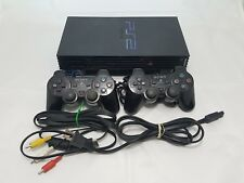 Sony PlayStation 2 Launch Edition Black Console (SCPH-30001R) w/ extra control!