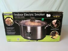 Presto Electric Indoor Smoker Slow Cooker Digital Controls Black Built-In Timer