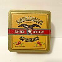 Vintage D.Ghirardellis Tin Chocolate San Francisco 1993 Reproduction - Empty Box