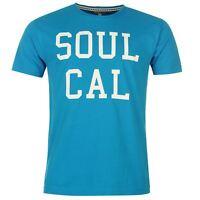 Mens Branded SoulCal Varsity Style Print Logo T Shirt Cotton Top Size S-XXL