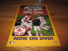 MLB Presents WORLD SERIES 2007 Colorado Rockies vs BOSTON RED SOX DVD Poster