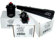 AEM High Volume Fuel Rail + Adj Pressure Regulator + Filter Honda D16Y8