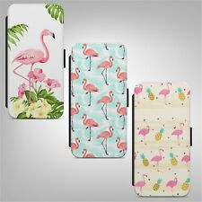Pink Flamingo Pattern FLIP WALLET PHONE CASE COVER FOR IPHONE SAMSUNG HUAWEI