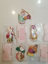 1982 1983 Beatrix Potter Vintage Ornaments By Schmid-Lot of 5