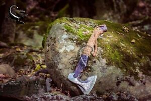 Beautiful Custom Handmade Damascus Steel Tomahawk Axe Throwing Viking Hunting