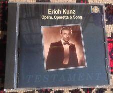 TESTAMENT SBT 1059 ERICH KUNZ opera, operetta & song 1995 MONO CD