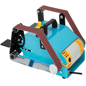 950W Double Axis Bench Belt Sander Grinding Machine Variable Speed Grinder