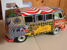 "SunStar 1:12 VW Samba Woodstock Hippie Bus T1 Bully 1969 ""Light"" Psychedelic Art"