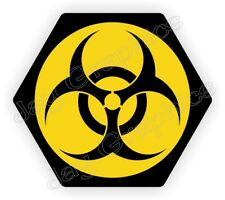 Bio Hazard Symbol Hard Hat Sticker Radioactive Biohazard Helmet Decal Label