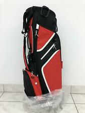 NEW Titleist ULTRA Lightweight Stand Bag - Black/Red/White - Double Custom Panel