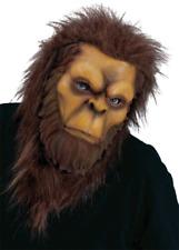 Bigfoot Mask Sasquatch Costume Head Prop Hair Ape Monster Yeti Adult Big Foot