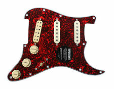 920D Loaded Strat Pickguard Duncan SLSD-1b/Fender CS '69 Red Lava/Aged White