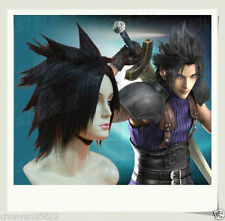 Final Fantasy 7 / Zack.Fair Black Cosplay Wig + free hairnet
