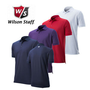 Wilson Staff Authentic Mens Golf Polo Shirt Short Sleeve Breathable Summer Top