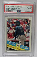 2018 Topps Heritage #NT14 Ronald Acuna Jr. Rookie - Now And Then PSA 9 MINT