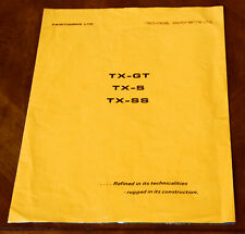 Fairthorpe TX-GT, TX-S & TX-SS brochure Prospekt, 1969