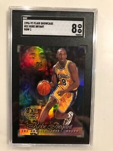 1996-97 FLAIR SHOWCASE ROW 1 #31 KOBE BRYANT ROOKIE CARD SGC 8 NM-MT