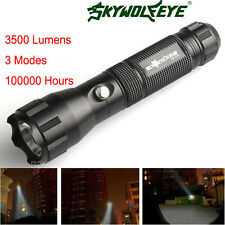 Sky Wolf Eye 3500 Lumens Flashlight Torch CREE XM-L T6 LED Lamp 18650 Battery