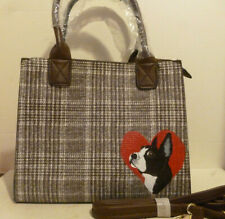 Boston Terrier Purse Handbag Hand painted by Mary Wilson Pet Lovers Boutique