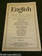 ENGLISH ASSOCIATION - SPRING 1977 VOL 26 # 124 - BEOWOLF - ROBERT HAMPSON
