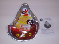 BRAND NEW WILTON PIRATE SHIP BOAT BIRTHDAY ALUMINUM CAKE PAN MOLD #2105-1021