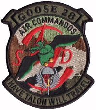 AIR FORCE VELCRO PATCH: GOOSE 28 AIR COMMANDOS HAVE TALON WILL TRAVEL