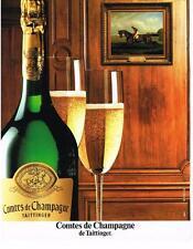 PUBLICITE ADVERTISING   1987   COMTES  DE CHAMPAGNE   de TAITTINGER    champagne