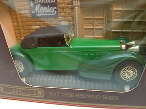 MATCHBOX MODELS OF YESTERYEAR 1:48 SCALE Y-17 GREEN 1938 HISPANO SUIZA NEW IN BO