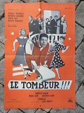 AFFICHE CINEMA vintage : LE TOMBEUR / 1957 / RENE DELACROIX JOUANNEAU D. GREY