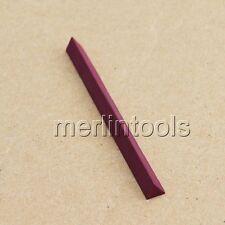 10 x 10 x 10 x 100mm Triangular Ruby Polishing Stone for Watchmaker Tool