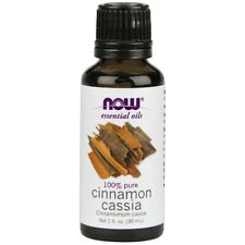 NOW Foods 100% Pure Cinnamon Cassia Essential Oil 1 oz 30 ml, FRESH, Made In USA