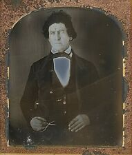 Occupational Man With Pliers Dentist? Craftsman? 1/6 Plate Daguerreotype G209